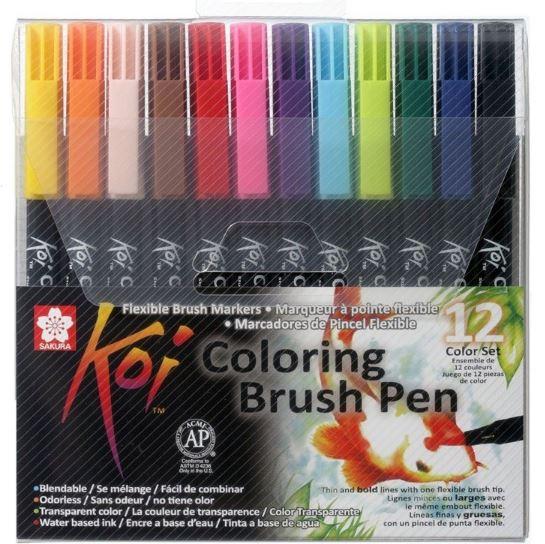 12 col brush pen