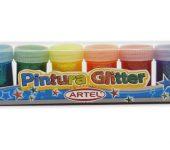 pintura glitter artel tempera